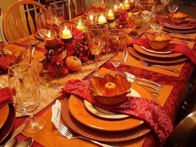 Thanksgiving Dinner Table Decorations  Thanksgiving Table 14 Pics