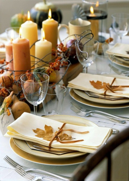 Thanksgiving Dinner Table Decorations  34 Natural Thanksgiving Table Settings DigsDigs