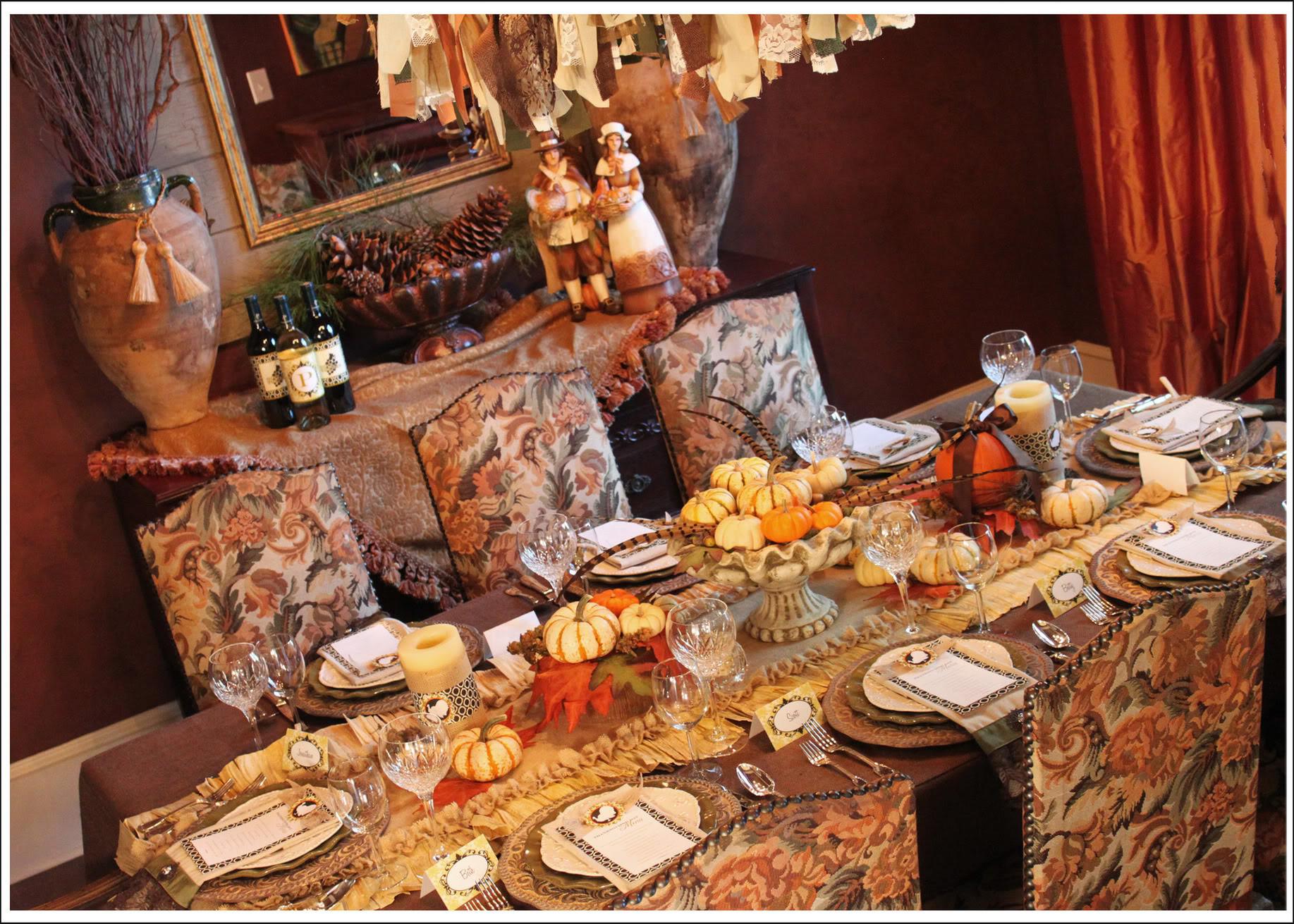 Thanksgiving Dinner Table  Thanksgiving Dinner Tablescapes
