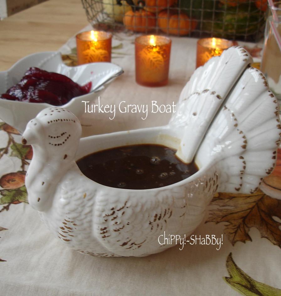 Thanksgiving Gravy Boat  ChiPPy SHaBBy HaPPy T H A N K S G I V I N G ChiPPy