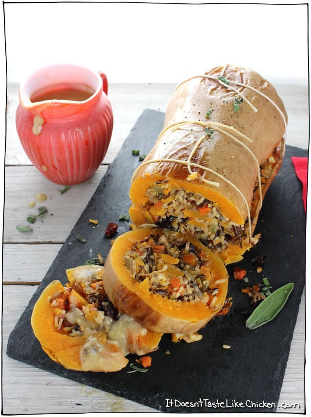 Thanksgiving Main Dishes  Stuffed Roasted Butternut Squash • it doesn t taste like