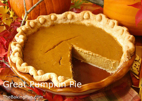 Thanksgiving Pumpkin Pie Recipe  Great Pumpkin Pie Recipe