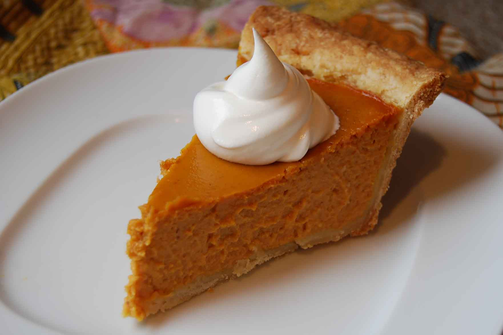 Thanksgiving Pumpkin Pie Recipe  Dessert