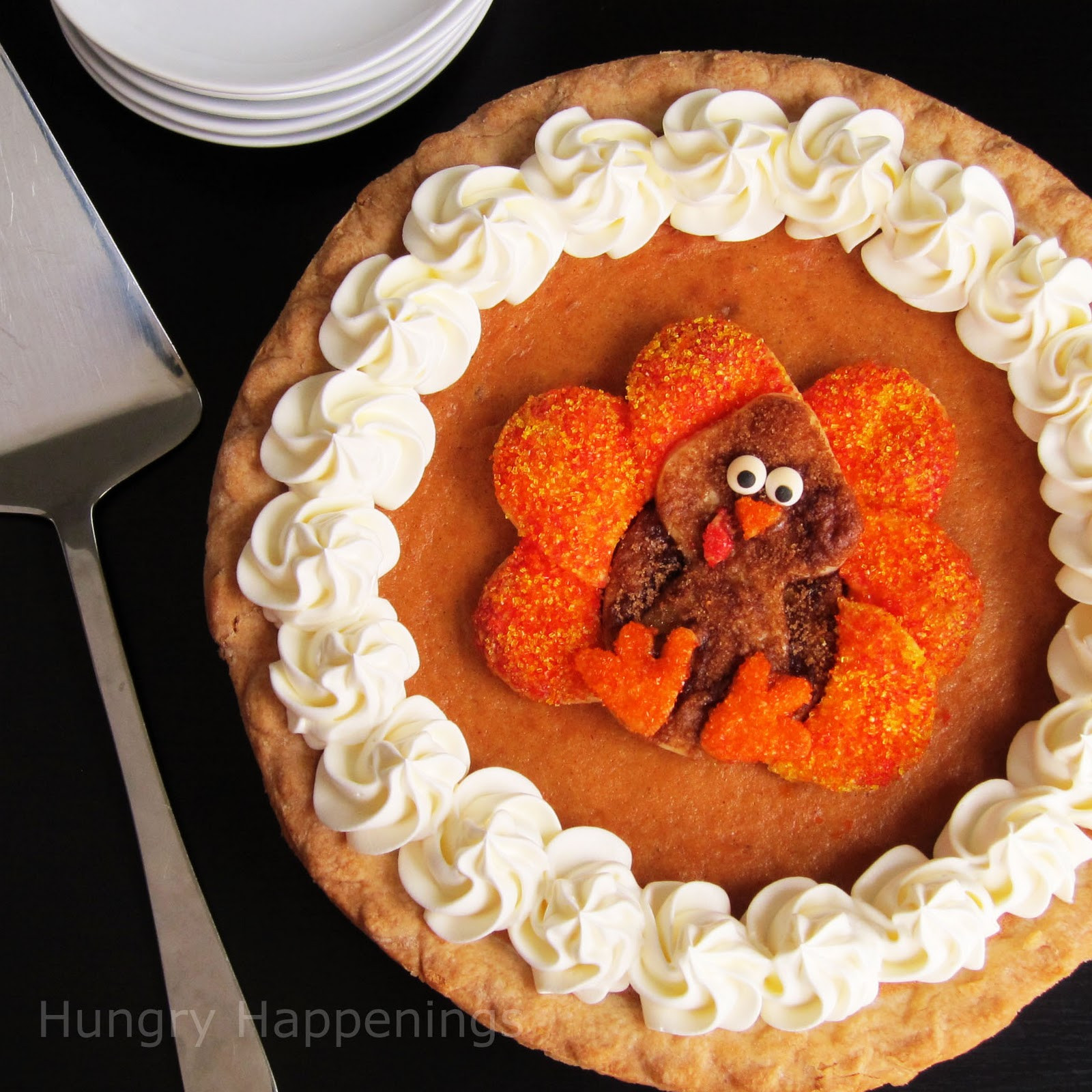 Thanksgiving Pumpkin Pie Recipe  Decorated Pumpkin Pie Festive Thanksgiving Dessert
