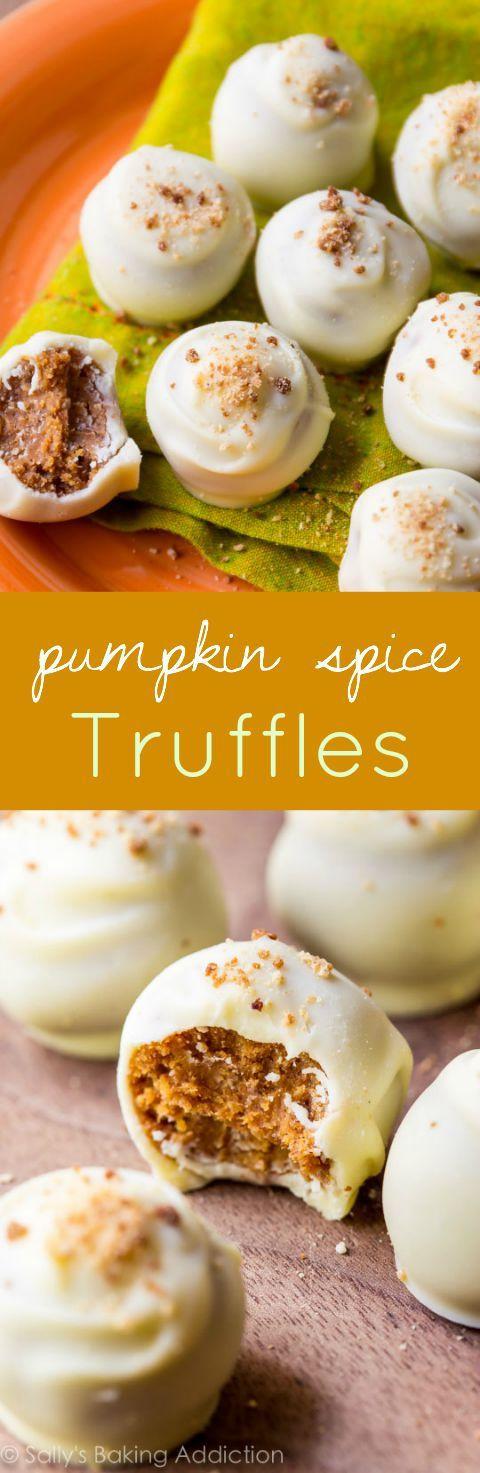 Thanksgiving Pumpkin Recipes  Pumpkin Spice Truffles Recipe