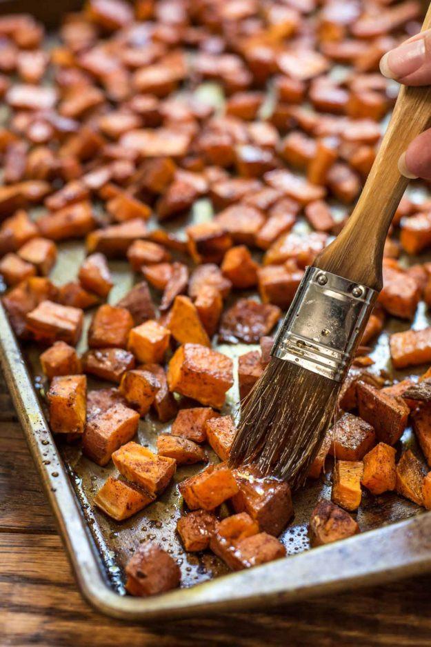 Thanksgiving Roasted Sweet Potatoes  16 Thanksgiving Side Dish Recipes