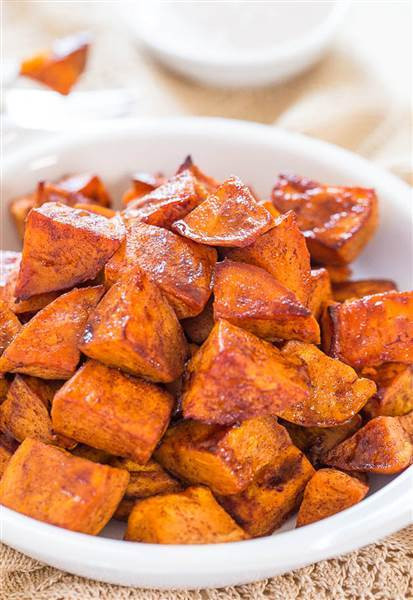 Thanksgiving Roasted Sweet Potatoes  Sweet potato recipes Slow cooker honey roasted and more