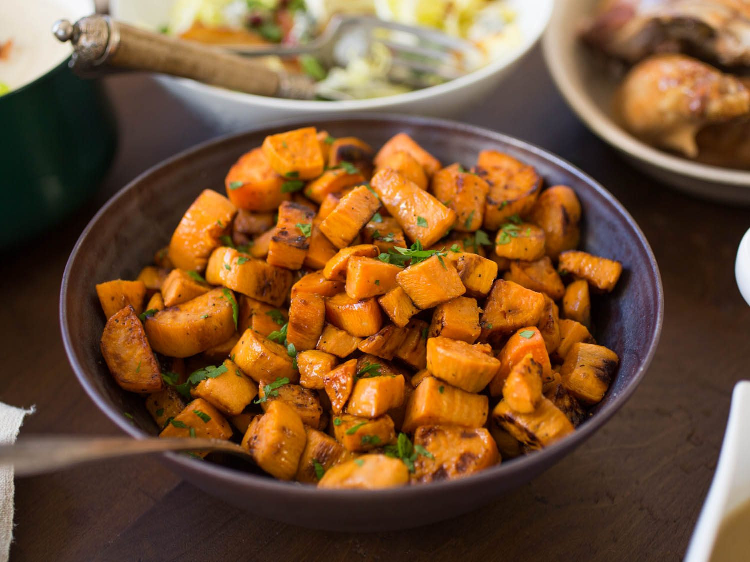 Thanksgiving Roasted Sweet Potatoes  The Best Roasted Sweet Potatoes Recipe