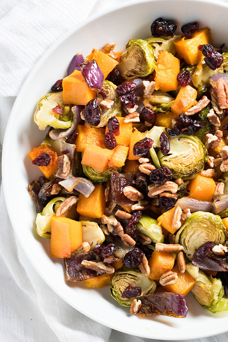 Thanksgiving Roasted Vegetable Side Dishes  Cranberry Pecan Roasted Ve ables