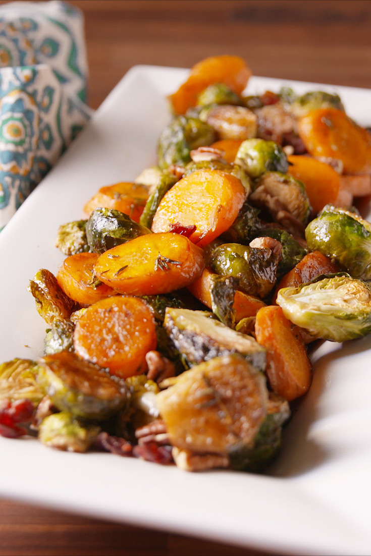 Thanksgiving Roasted Vegetable Side Dishes  Best Roasted Ve able Medley Recipe How To Make Roasted