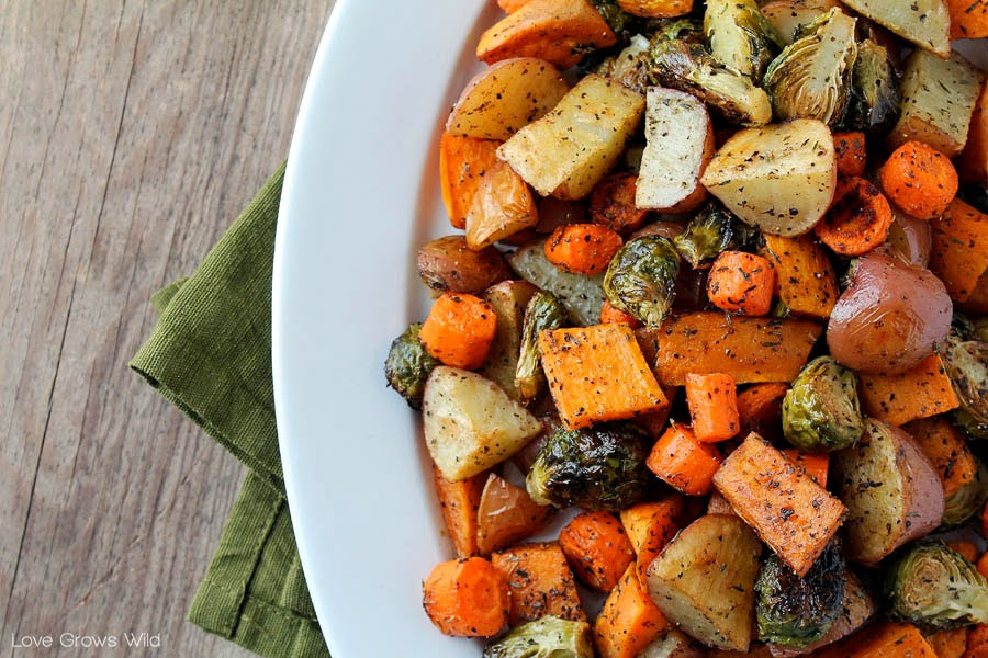 Thanksgiving Roasted Vegetable Side Dishes  Roasted Fall Ve ables Love Grows Wild