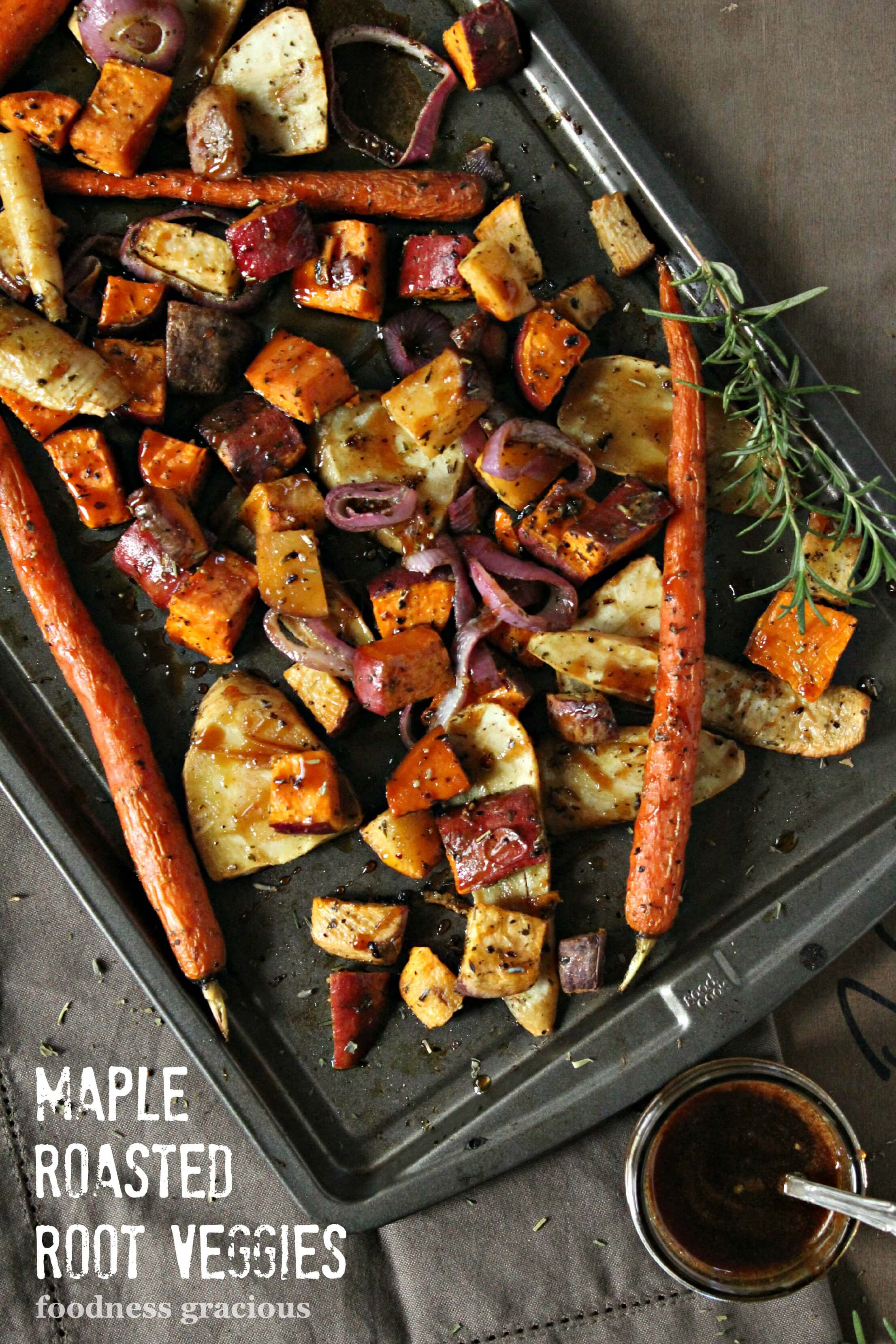 Thanksgiving Roasted Vegetables  Maple Balsamic Roasted Ve ables