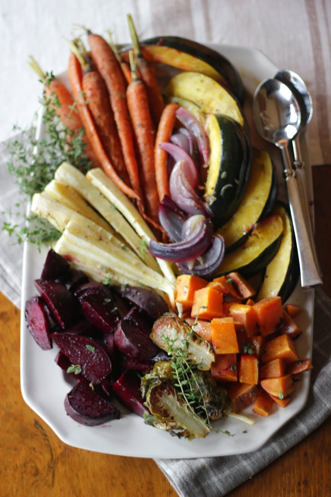 Thanksgiving Roasted Vegetables  Jenny Steffens Hobick Roasted Root Ve able Platter with