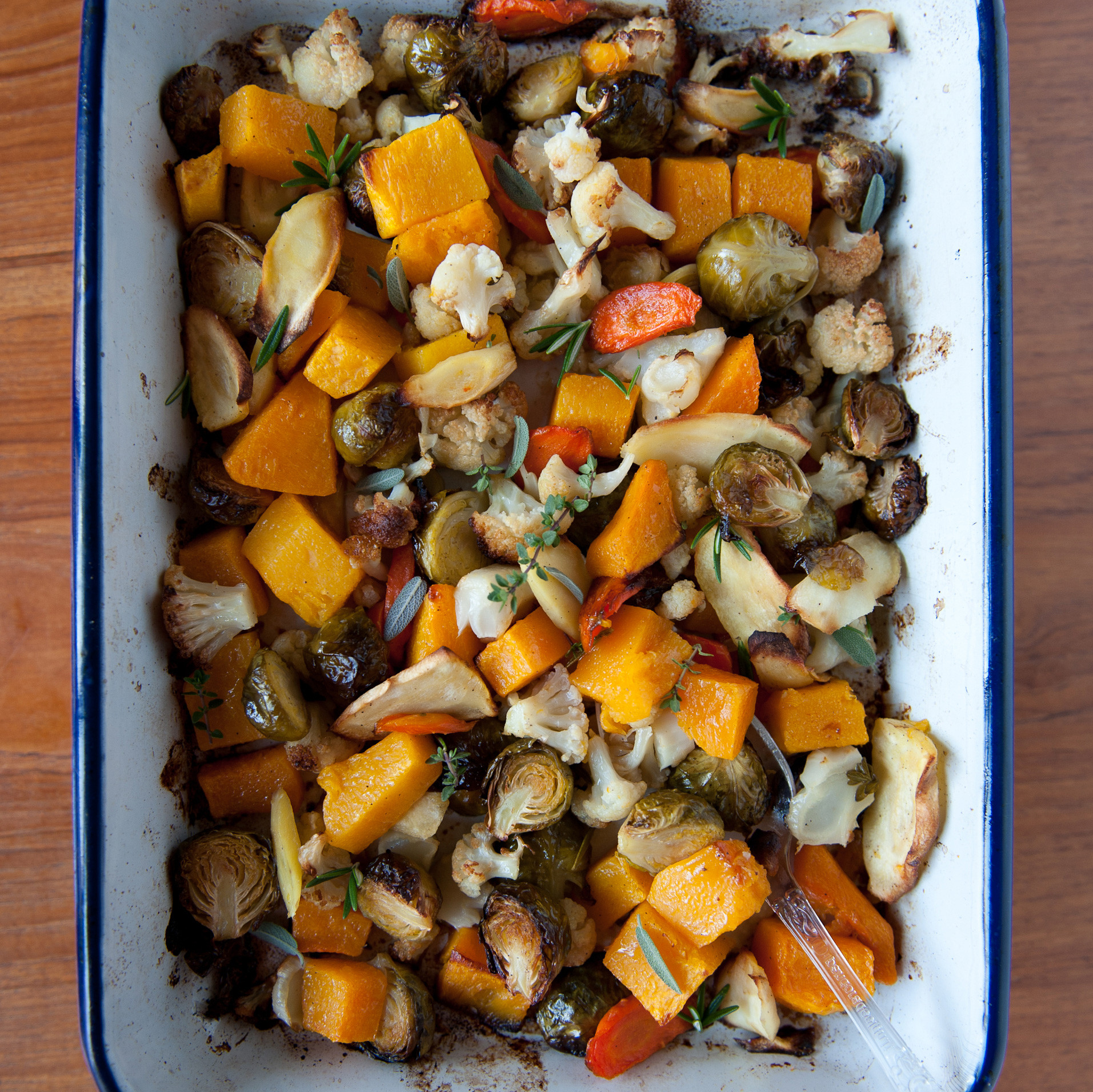 Thanksgiving Roasted Vegetables  Roasted Ve ables with Fresh Herbs Recipe Melissa Rubel