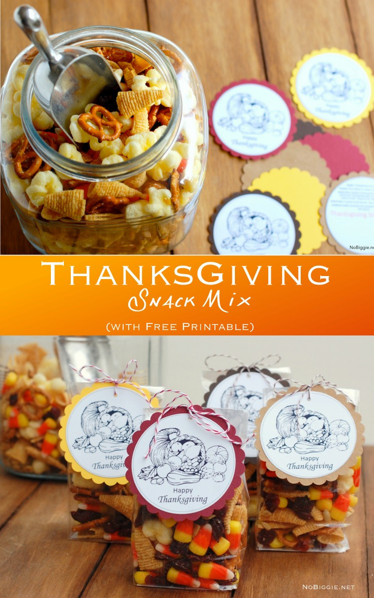 Thanksgiving Snacks Recipes  Thanksgving Snack Mix free printable