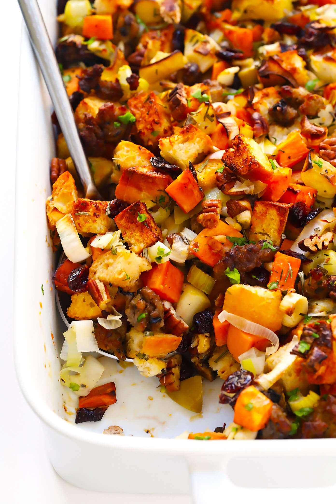 Thanksgiving Sweet Potato Recipes  The BEST Sausage and Sweet Potato Thanksgiving Stuffing