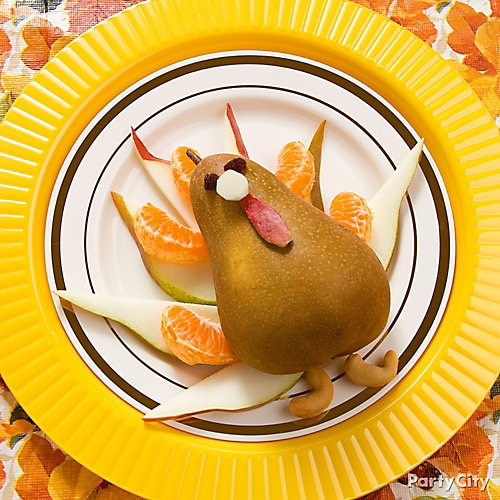 Thanksgiving Themed Appetizers  Thanksgiving Pear Turkey Idea Thanksgiving Appetizer