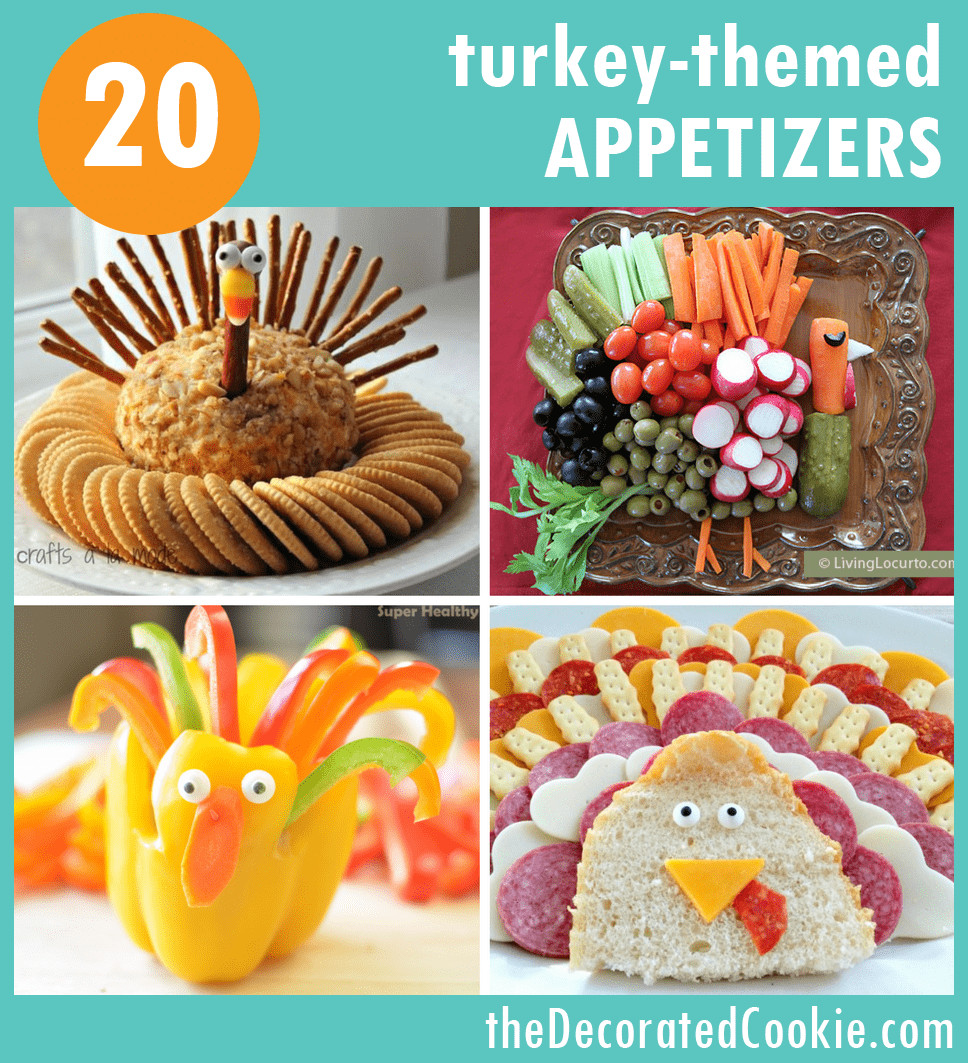 Thanksgiving Themed Appetizers  THANKSGIVING APPETIZERS 20 fun turkey themed snacks