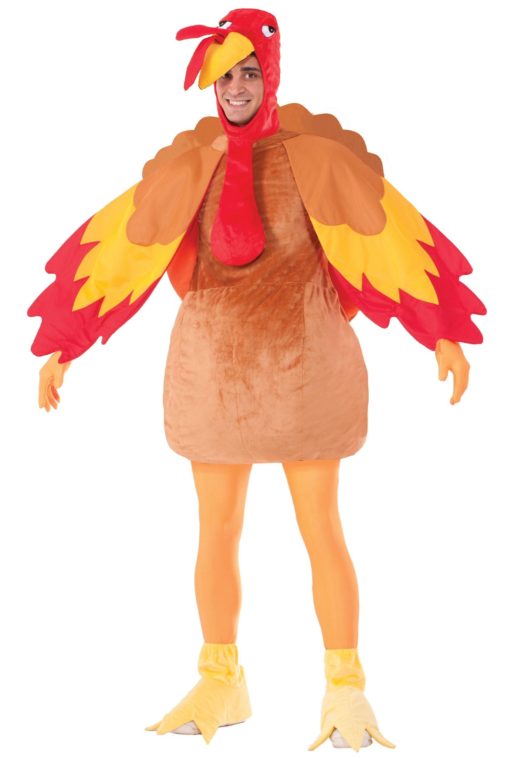 Thanksgiving Turkey Costume  Adult Deluxe Turkey Costume