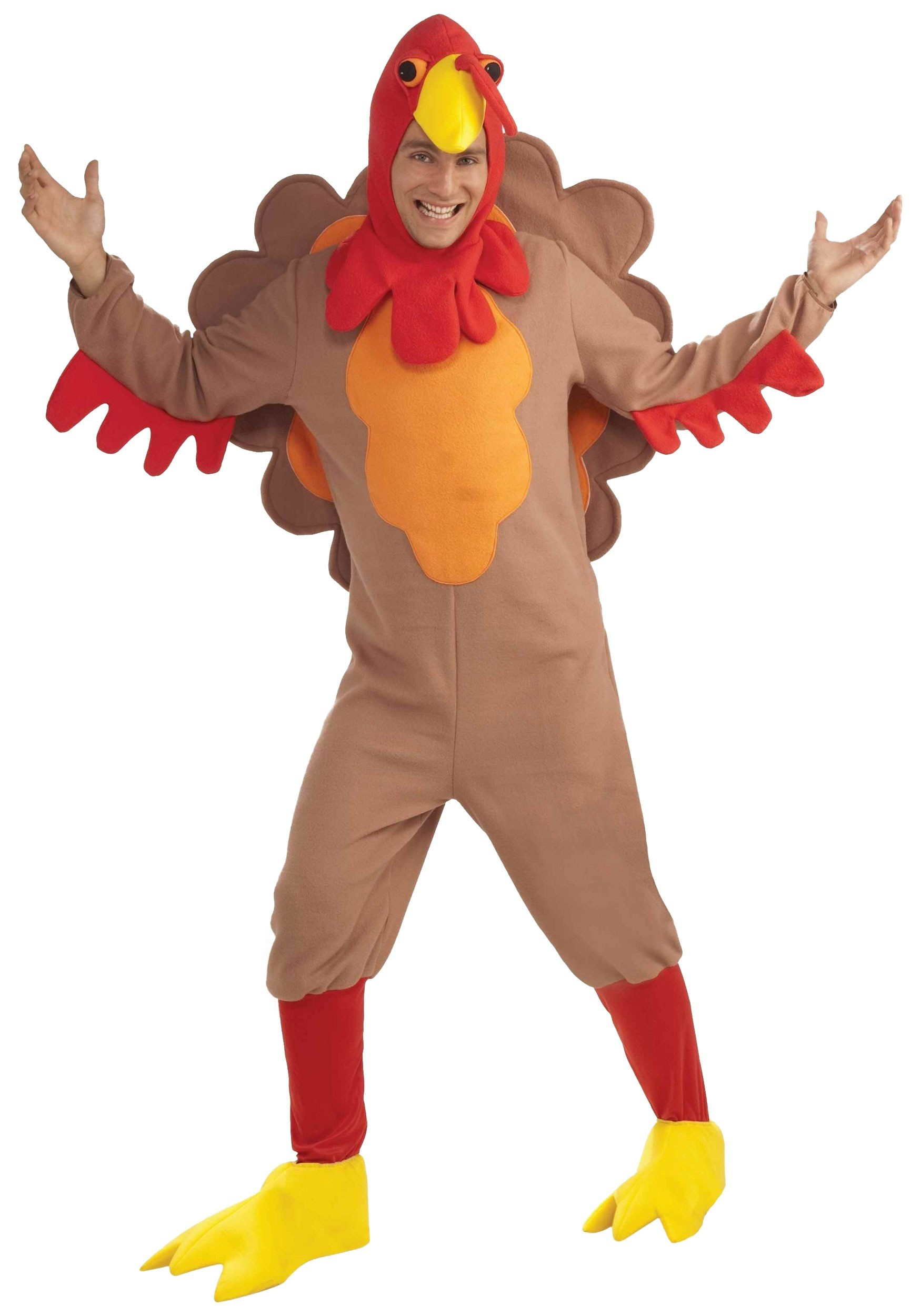 Thanksgiving Turkey Costume  Adult Fleece Turkey Costume