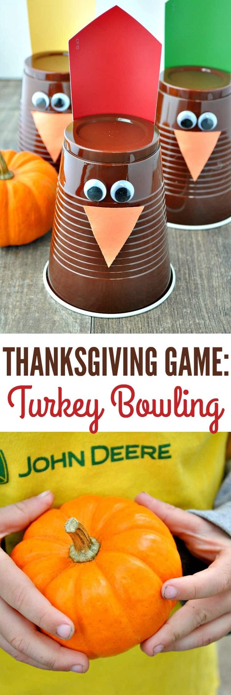 Thanksgiving Turkey Games  Thanksgiving Game Turkey Bowling The Seasoned Mom
