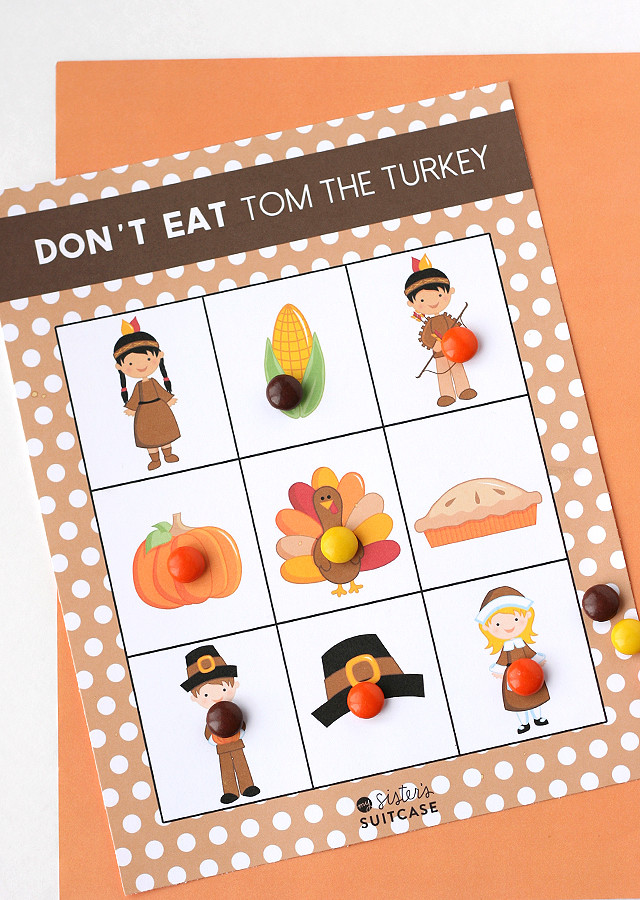 Thanksgiving Turkey Games  Printable Thanksgiving Game Don t Eat Tom My Sister s