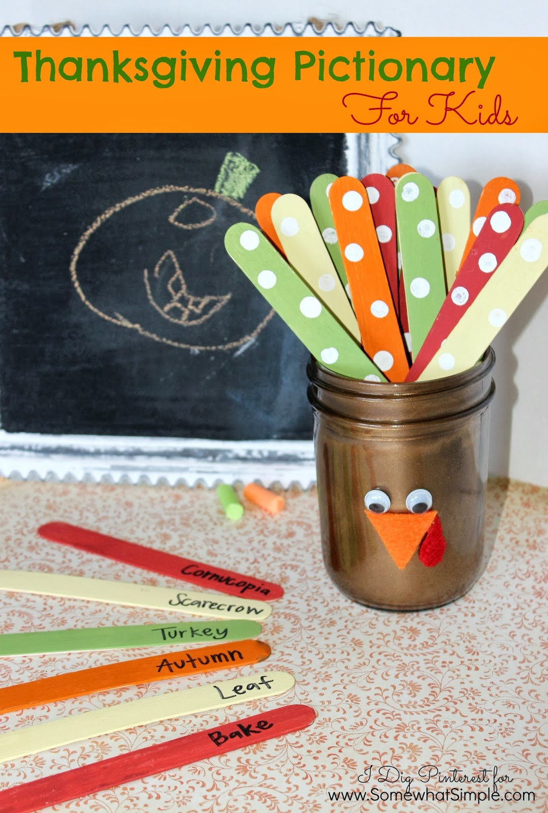 Thanksgiving Turkey Games  Thanksgiving Pictionary Game For Kids I Dig Pinterest