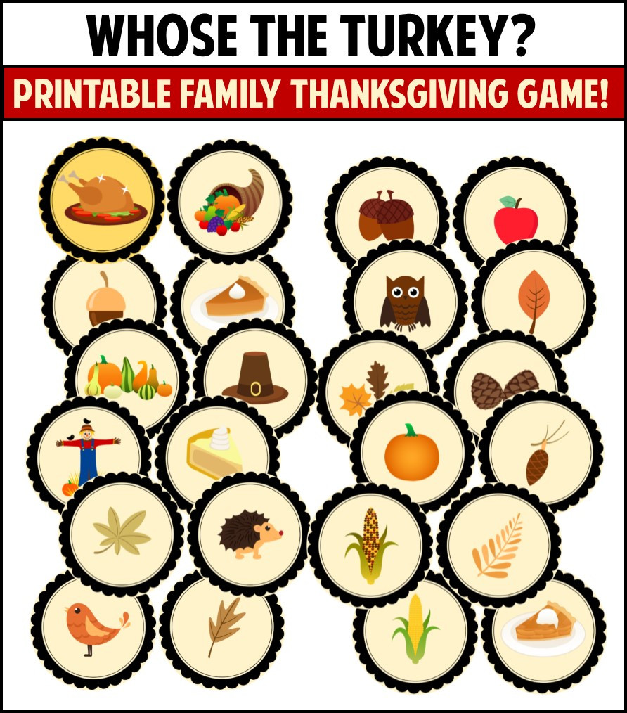 Thanksgiving Turkey Games  Thanksgiving Games to play with your family