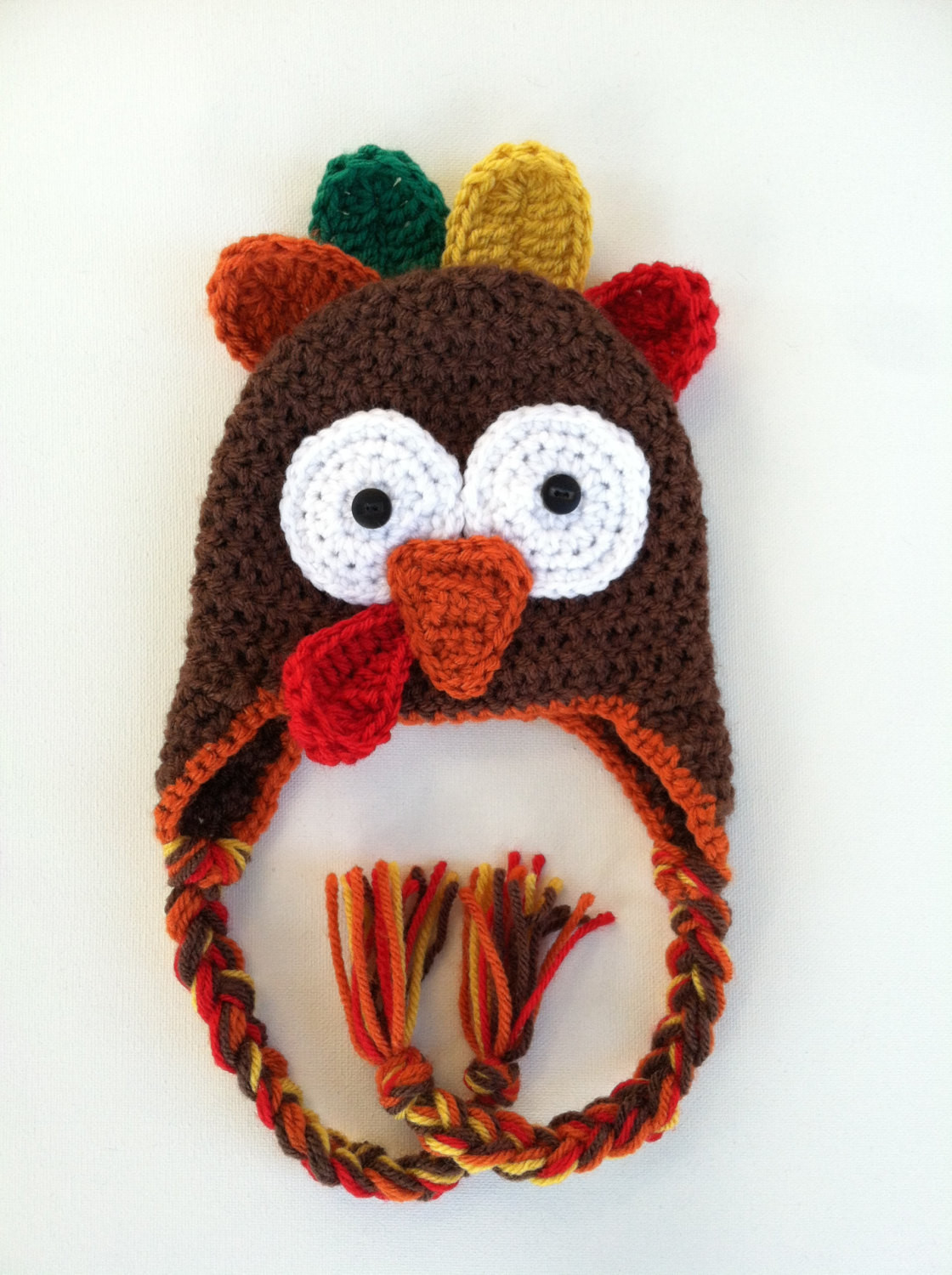 Thanksgiving Turkey Hat  Crochet Thanksgiving Turkey Hat Made to order