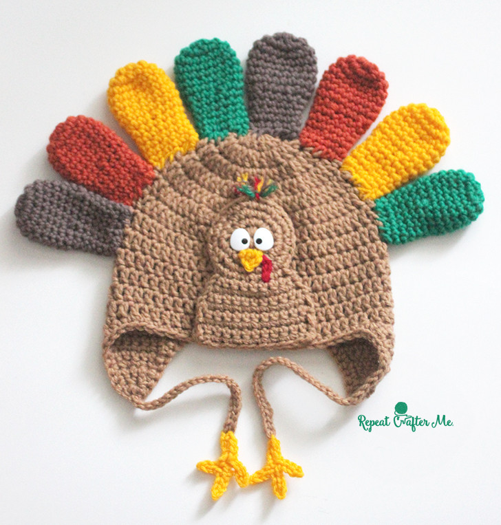 Thanksgiving Turkey Hat  Crochet Turkey Hat Pattern Repeat Crafter Me