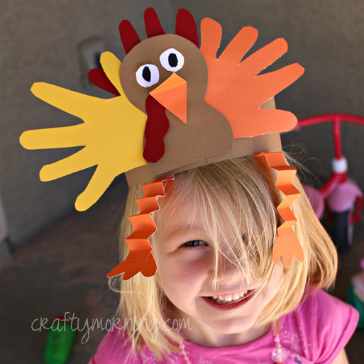 Thanksgiving Turkey Hat  Thanksgiving Kids Crafts