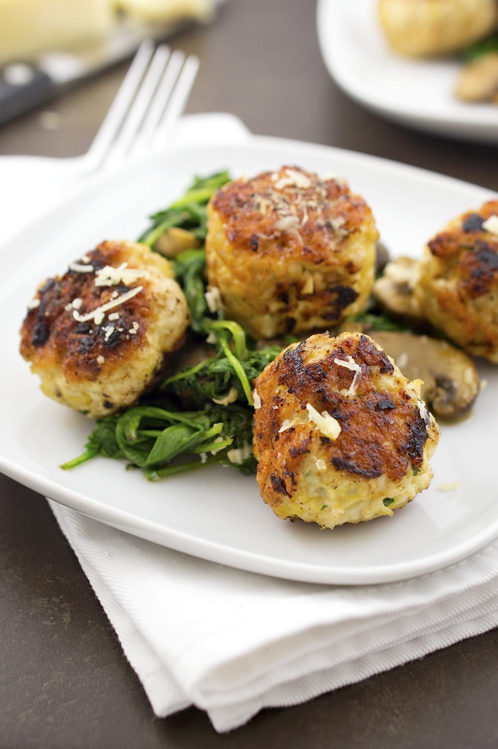 Thanksgiving Turkey Meatballs  Turkey Meatballs With Arugula and Mushrooms