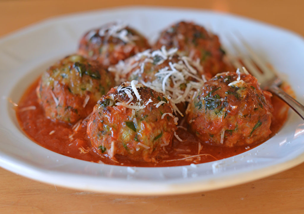 Thanksgiving Turkey Meatballs  Turkey Spinach & Cheese Meatballs ce Upon a Chef