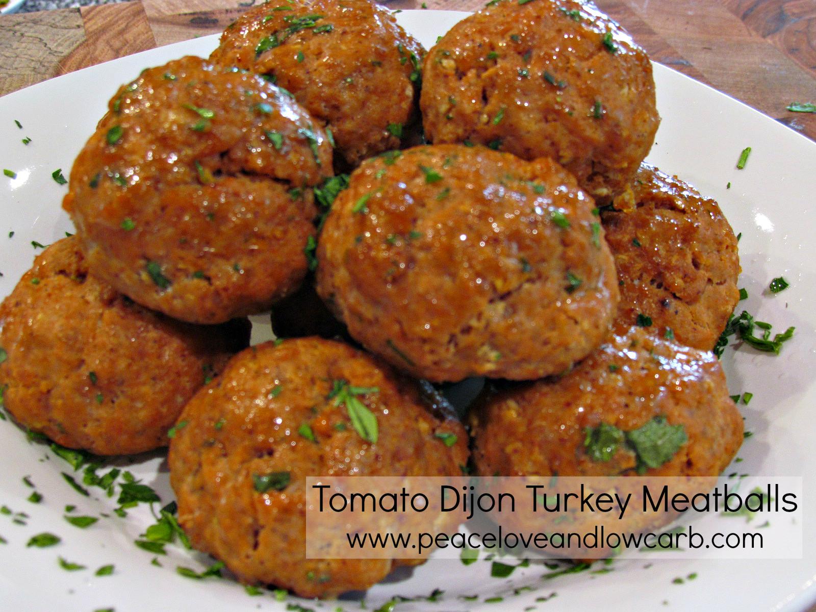 Thanksgiving Turkey Meatballs  Tomato Dijon Turkey Meatballs