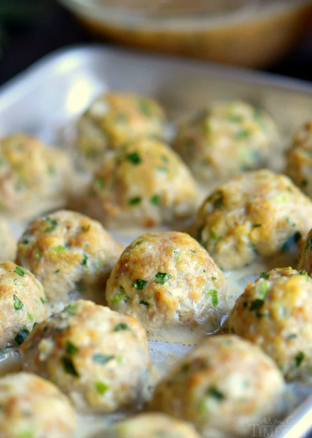 Thanksgiving Turkey Meatballs  The BEST Turkey Meatballs with Herbed Gravy Mom Timeout
