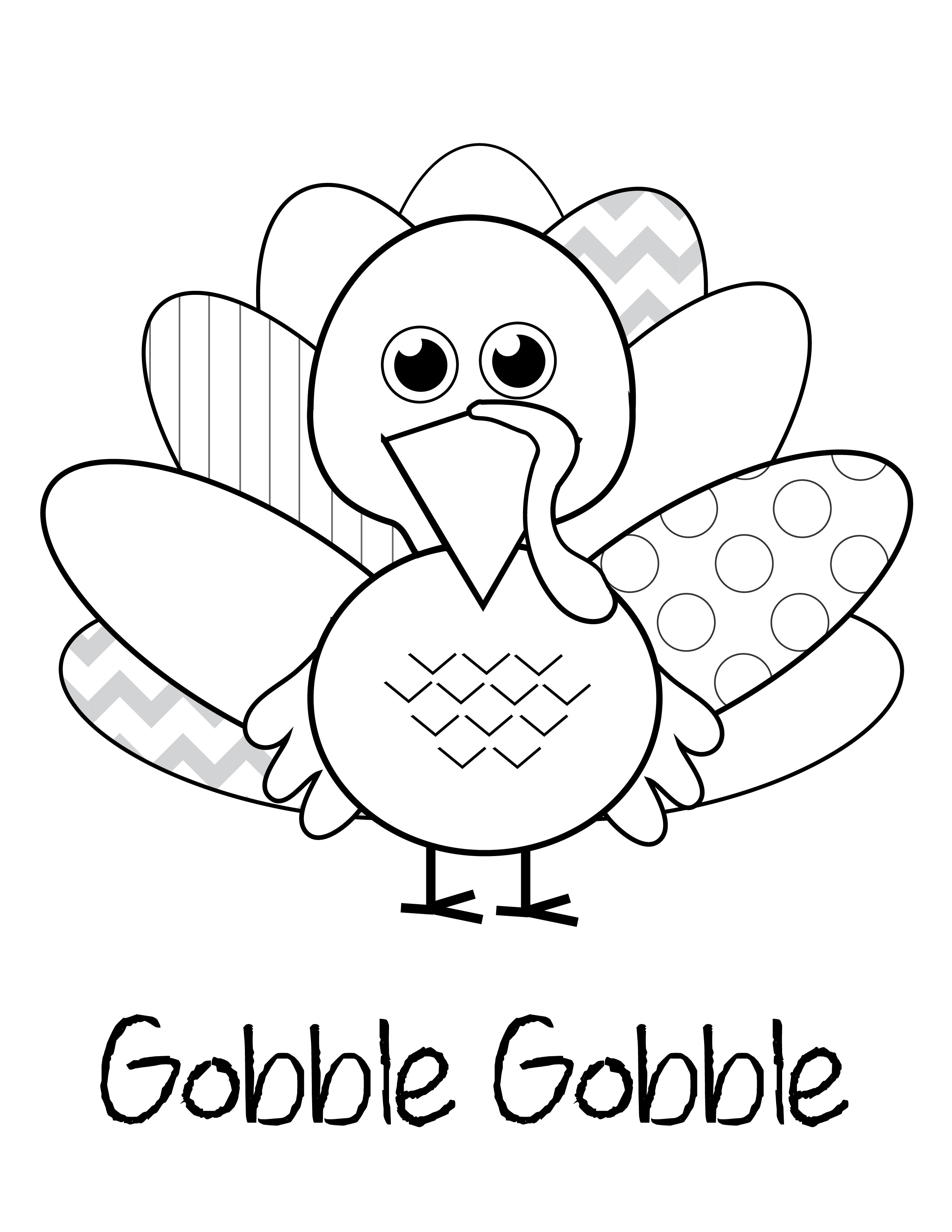Thanksgiving Turkey Pictures To Color  free thanksgiving printables