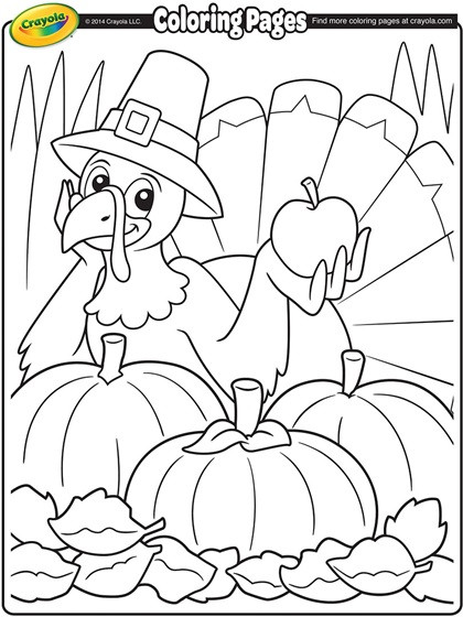 Thanksgiving Turkey Pictures To Color  Thanksgiving Turkey Cartoon Coloring Page