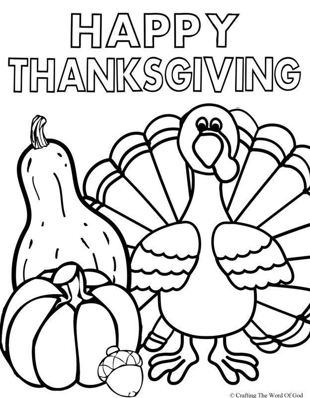 Thanksgiving Turkey Pictures To Color  Happy Thanksgiving 2 Coloring Page Crafting The Word God