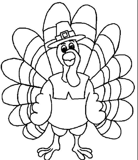 Thanksgiving Turkey Pictures To Color  Thanksgiving Turkey Kids Page & Coloring Book