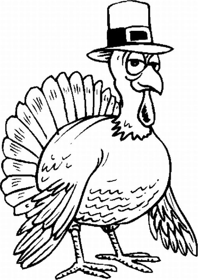 Thanksgiving Turkey Pictures To Color  Turkey Coloring Pages Thanksgiving Turkeys Coloring
