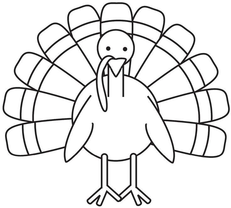 Thanksgiving Turkey Pictures To Color  turkey coloring page Free