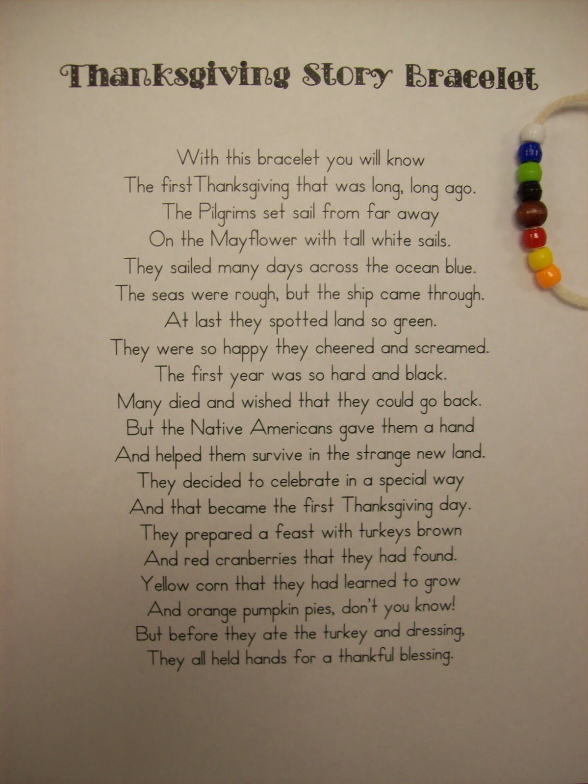 Thanksgiving Turkey Poem  First Grader Last A Thankful Plate Full