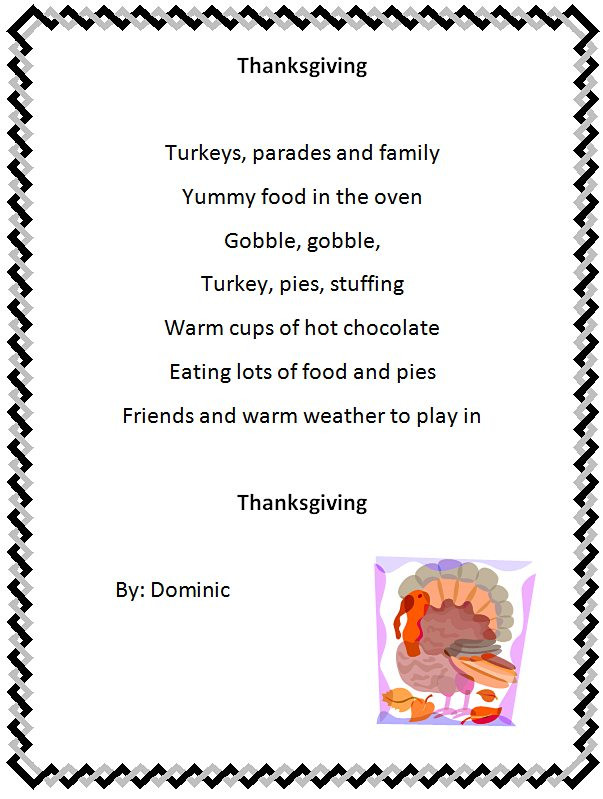 Thanksgiving Turkey Poem  Holiday Poem Generator