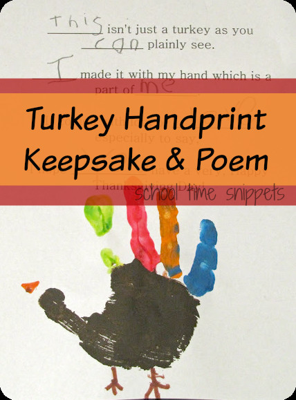 Thanksgiving Turkey Poem  Turkey Handprint Keepsake & Poem