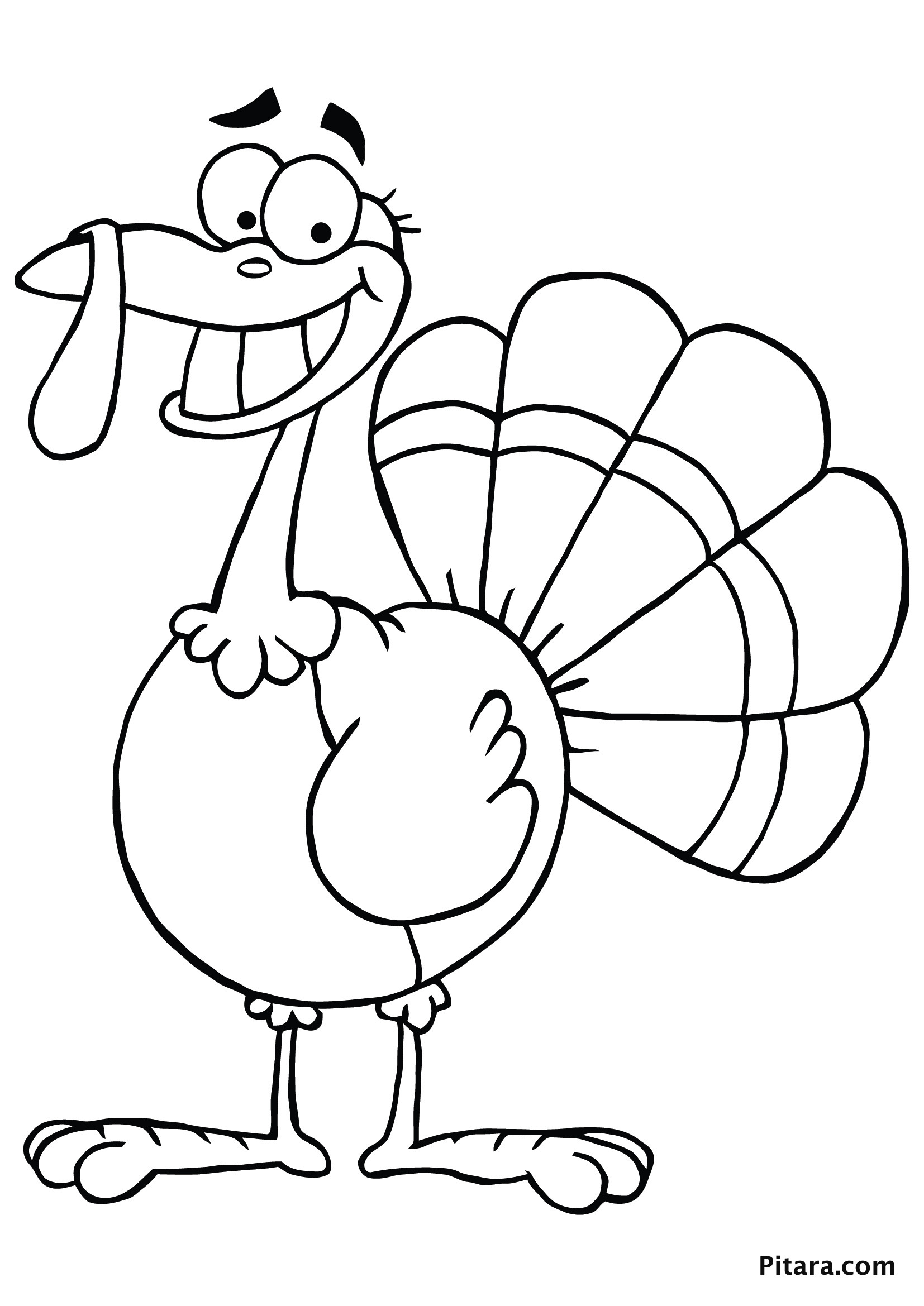Thanksgiving Turkey To Color  Turkey Coloring Pages for Kids