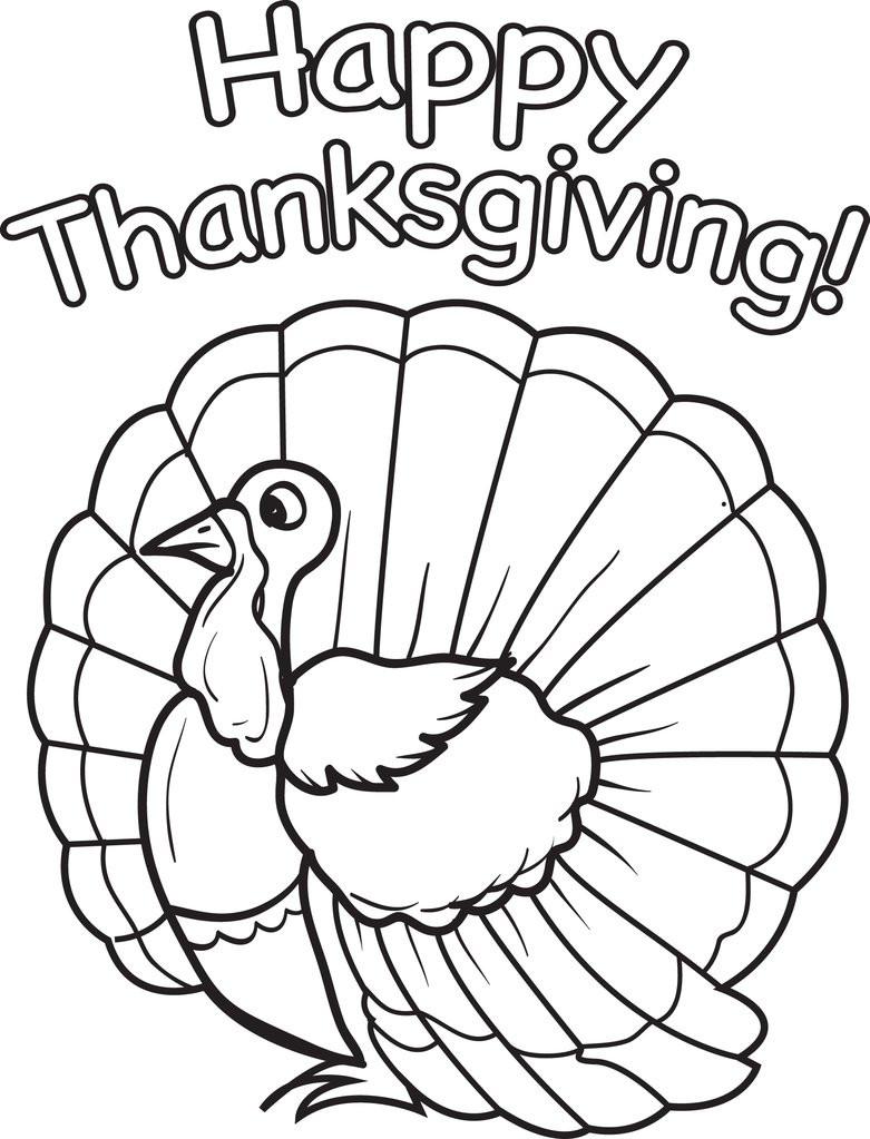 Thanksgiving Turkey To Color  FREE Printable Thanksgiving Turkey Coloring Page for Kids
