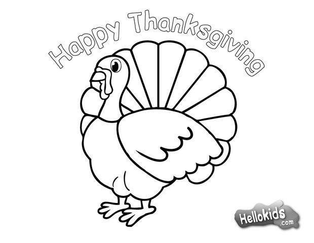 Thanksgiving Turkey To Color  Turkey for thanksgiving coloring pages Hellokids