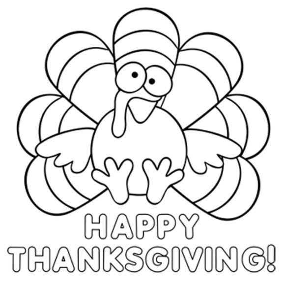 Thanksgiving Turkey To Color  Best🌟]Happy Thanksgiving Thanksgiving