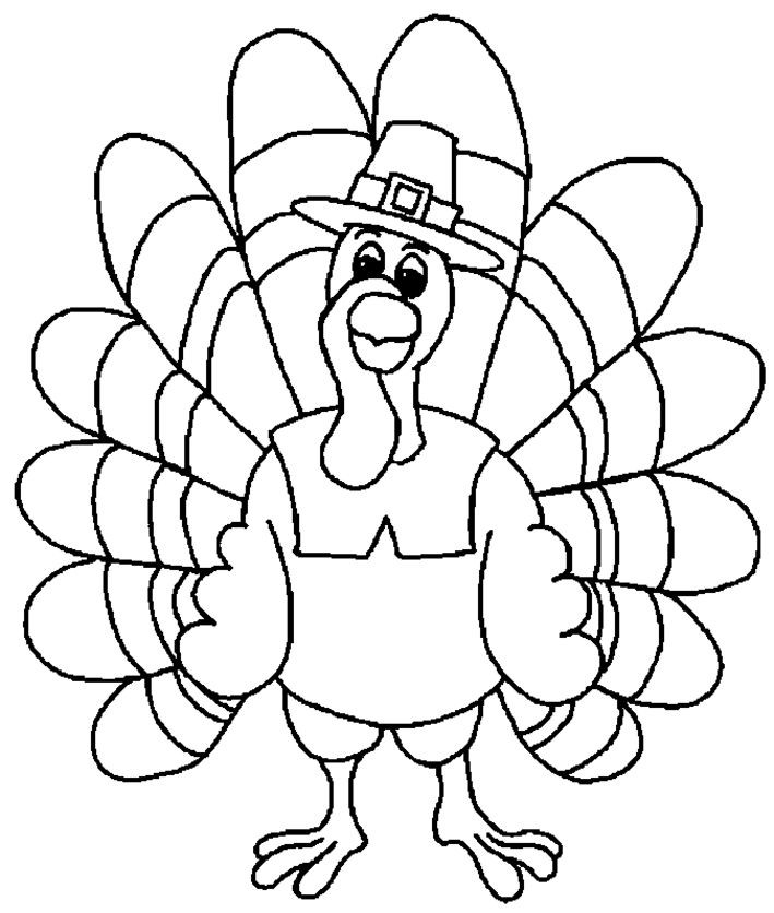 Thanksgiving Turkey To Color  12 best thanksgiving worksheets images on Pinterest