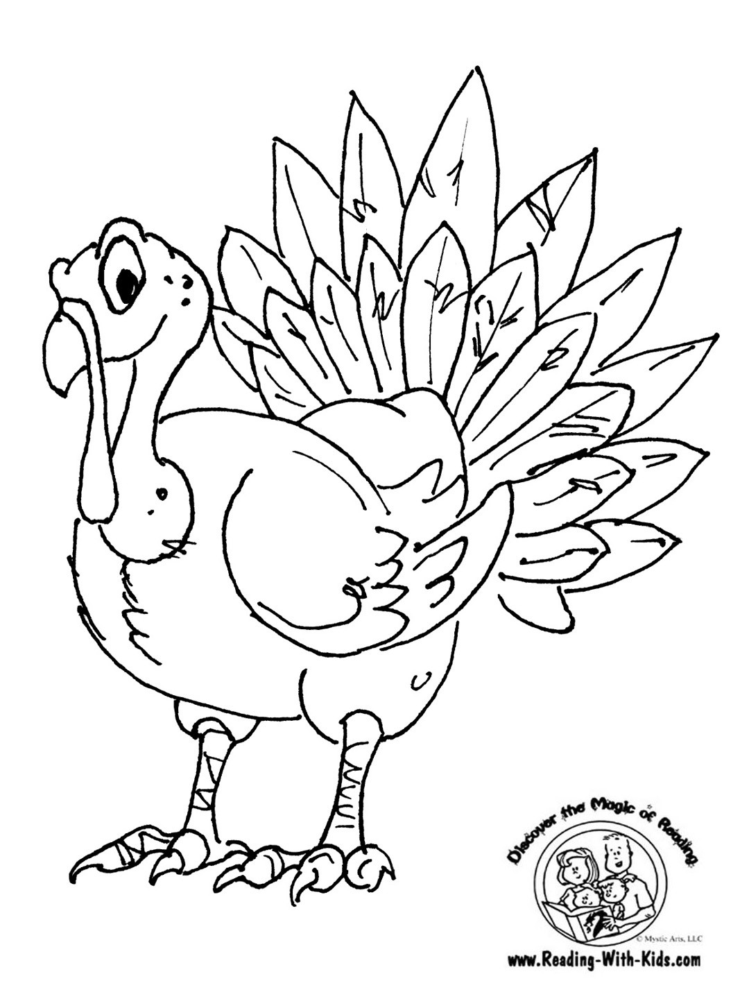 Thanksgiving Turkey To Color  Category Thanksgiving Crafts Getting Crafty with Kerns